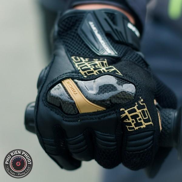 găng tay taichi full ngón, găng tay taichi rst 448 , taichi rst 448 black yellow