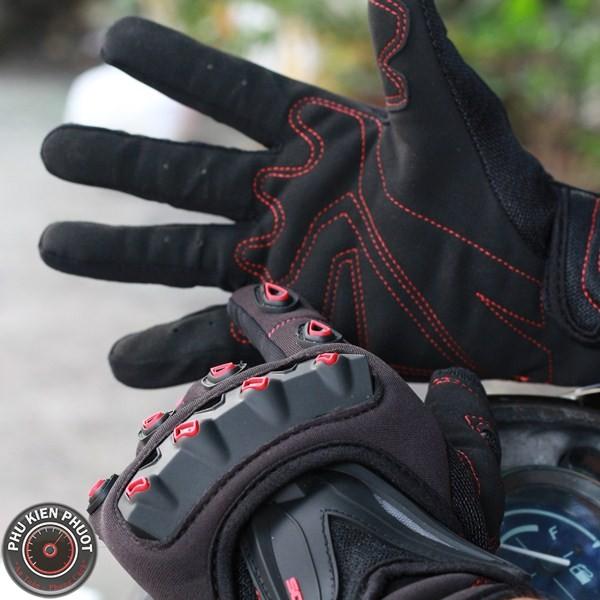 Găng tay moto xe máy, găng tay scoyco, scoyco mc10 đen đỏ