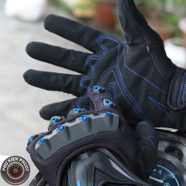 Găng tay moto xe máy, găng tay scoyco, scoyco mc10 xanh đen