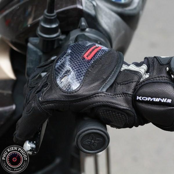 Găng tay đi phượt komine, găng tay  moto xe máy komine gk160