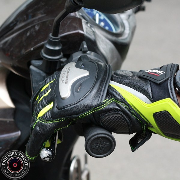Găng tay đi phượt komine cao cấp, găng tay  moto xe máy komine gk144
