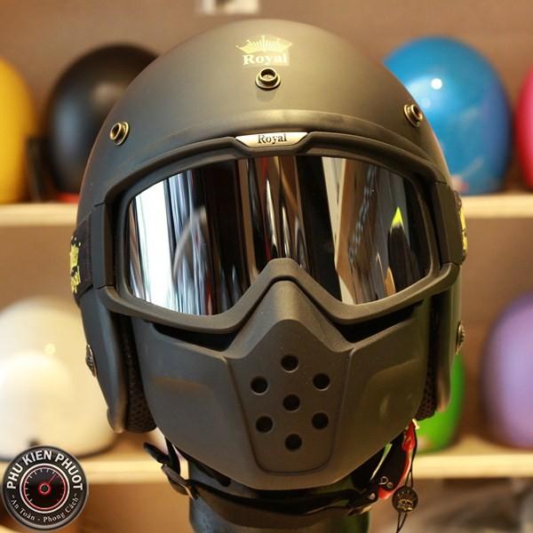 Kính mặt nạ Royal, kính mặt nạ royal mask, kính nón bảo hiểm