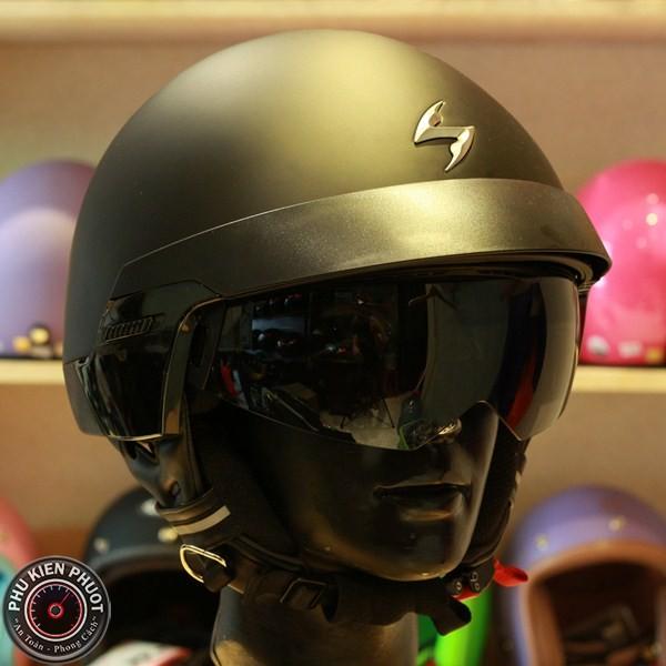 nón bảo hiểm cafe racer, nón scorpion cổ điển, nón bảo hiểm thương hiệu pháp