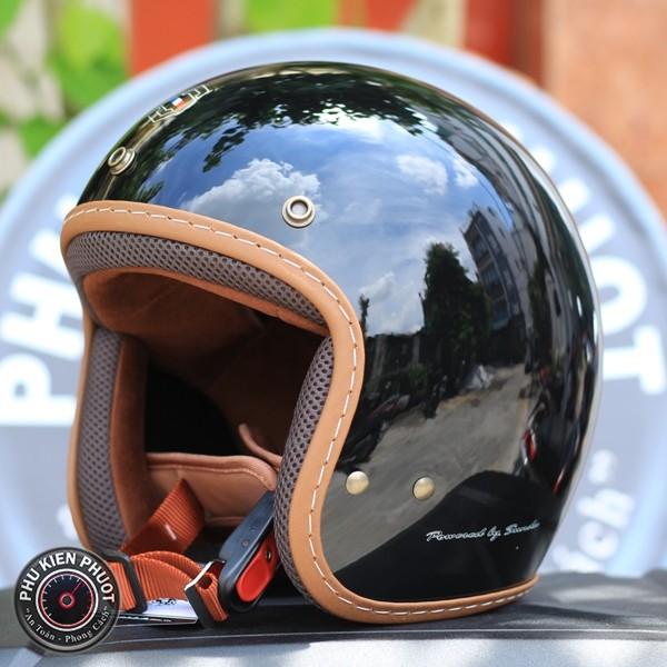 mũ bảo hiểm sunda 390 đen nhám giá rẻ , mũ 3/4 sunda , nón sunda vintage