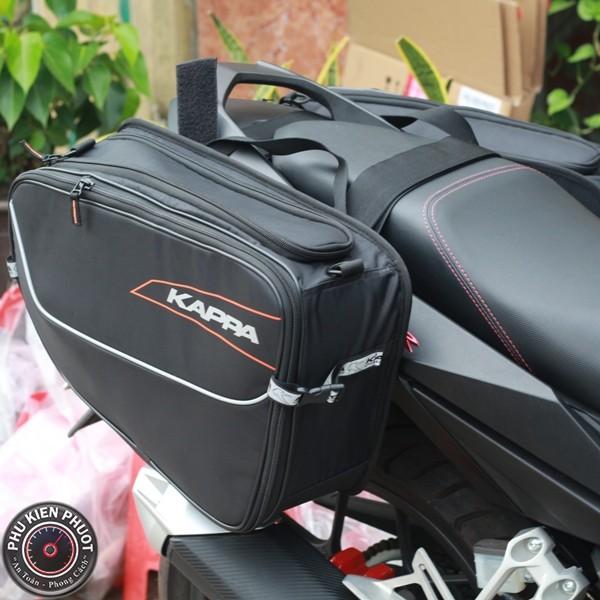 túi treo hông kappa lh202 , bộ treo hông 2 bên kappa, túi treo hông moto xe máy