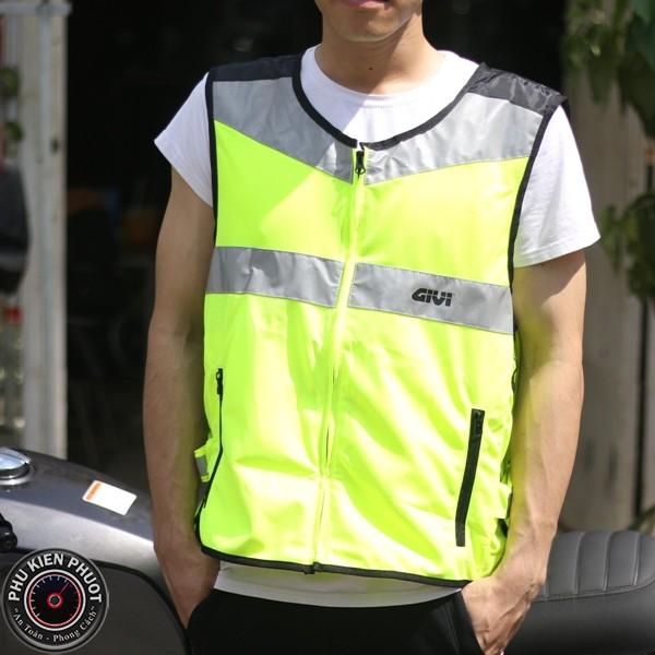 givi vest02 ,áo phản quang givi chính hãng, áo phản quang  đi phượt