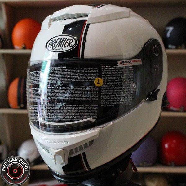 mũ bảo hiểm premier 2 kính sợi carbon , nón bảo hiểm premier