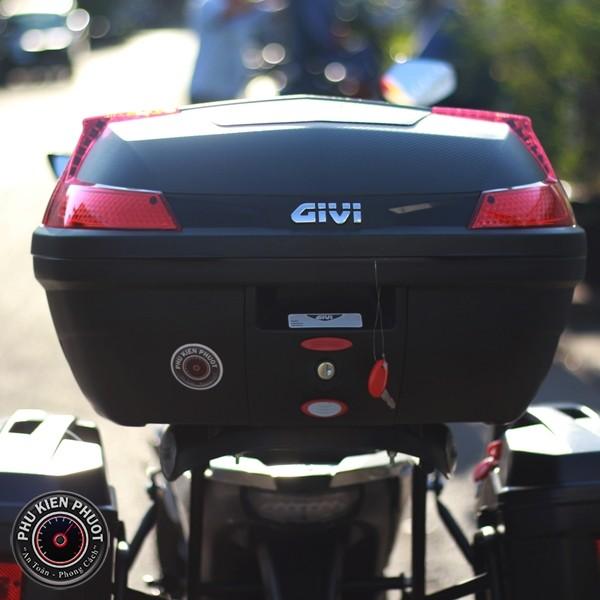thùng givi b47n , thùng givi 47 lít chính hãng , thùng xe moto pkl