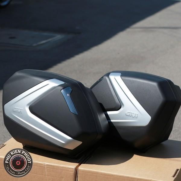 thùng hông givi V37NT , thùng moto pkl V37NT , thùng cao cấp V37NT