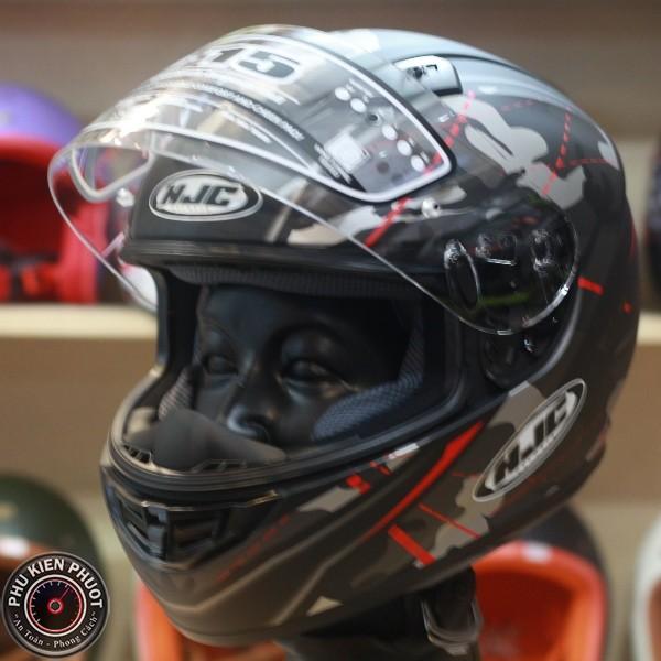 fullface hjc , hjc cs-15 giá rẻ, nón fullface 1 kính màu đen đỏ