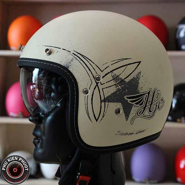Nón bảo hiểm hjc cổ điển, mũ bảo hiểm fg 70s
