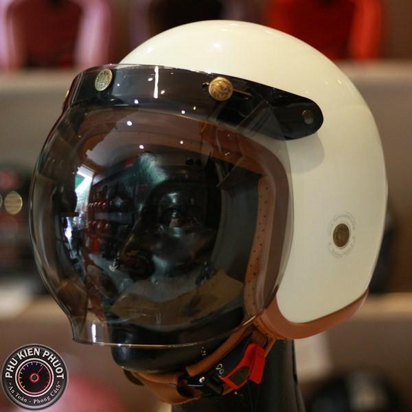 Kính bubble gắn nón 3/4, kính nón 3/4 bulldog