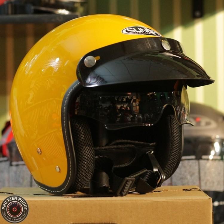 Nón bảo hiểm sunda 388 vàng bóng , mũ bảo hiểm sunda 388 vàng bóng, sunda 388