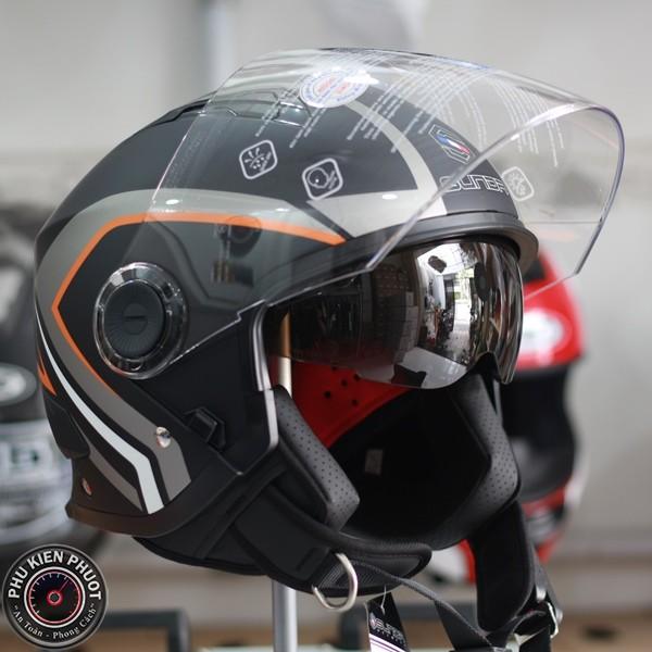 mũ bảo hiểm sunda 617A , nón sunda 617A , nón 34 chính hãng sunda