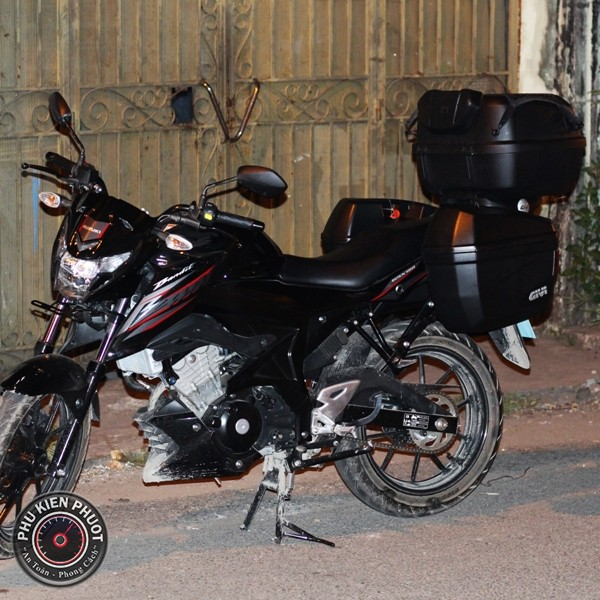 thùng xe givi bandit , full thùng givi gsx bandit , gsx bandit gắn full thùng givi