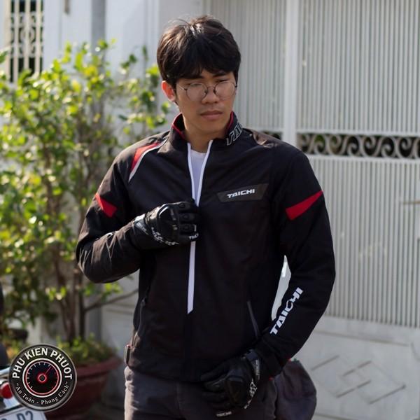 áo giáp taichi rsj322 black red , áo bảo hộ taichi rsj322 black red , áo giáp taichi chính hãng