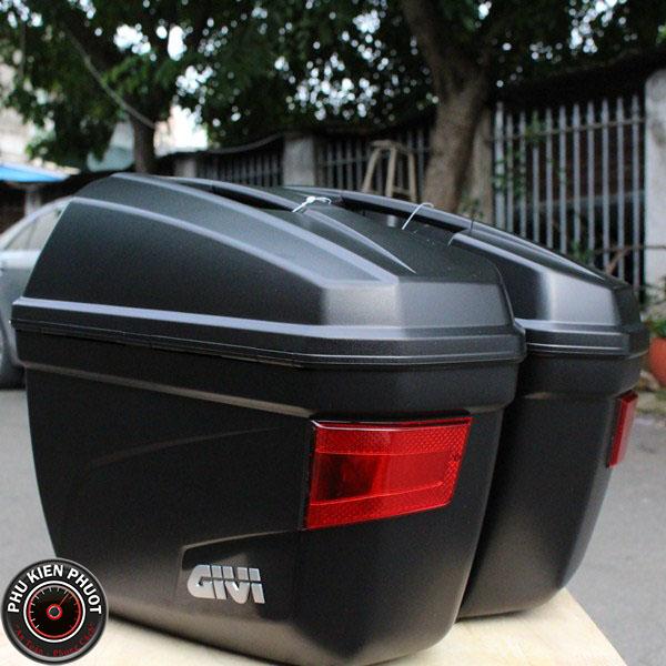 thùng hai bên givi E22N, thùng cặp hông givi, thùng hông moto xe máy E22N
