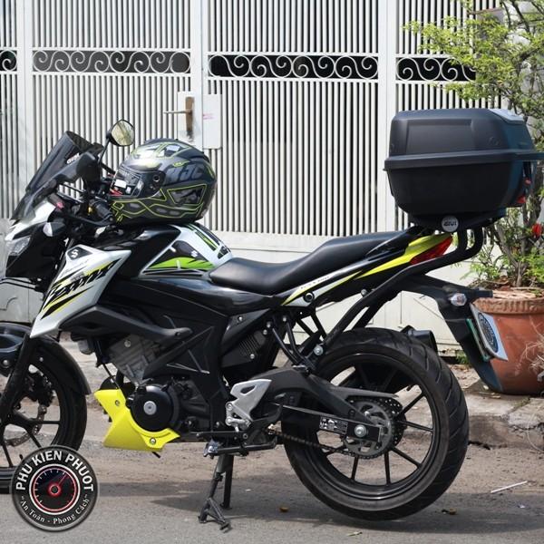 thùng givi xe gsx bandit , thùng sau xe máy givi , gsx bandit gắn thùng xe givi