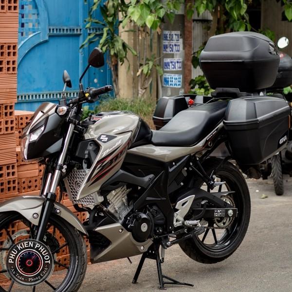 thùng moto gsx bandit , thùng xe gsx bandit , gsx bandit gắn thùng xe
