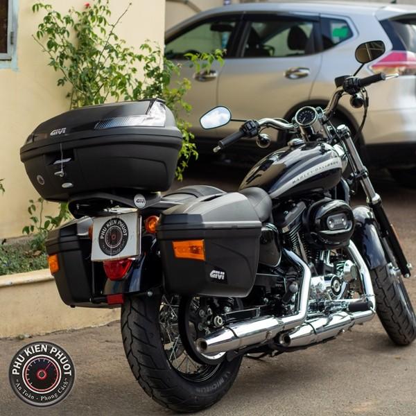 full thùng moto harley davidson , thùng givi gắn xe harley 1200cc custom