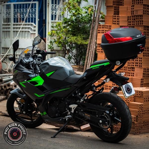 thùng moto ninja 400, thung moto pkl , thung givi xe  ninja 400