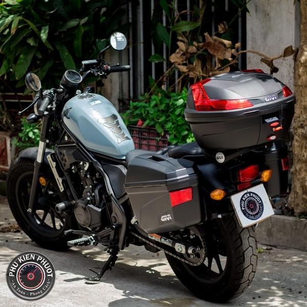 thùng xe rebel 500 , thùng givi rebel , rebel 500 gắn thùng moto xe máy