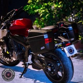 Thùng hông givi cb650r , thùng moto xe cb650r , thùng givi cb650r
