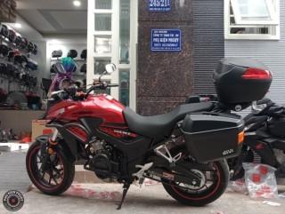 thùng moto cb500x , moto cb500x gắn thùng givi , baga givi cb500x