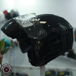mũ bảo hiểm lật hàm i90 , hjc i90 2 kính metal black hjc lật hàm