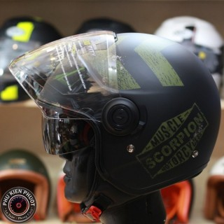 mũ 3/4 scorpipon exo 83 city heritage, mũ scorpion 3/4 2 kínhng hiệu Pháp