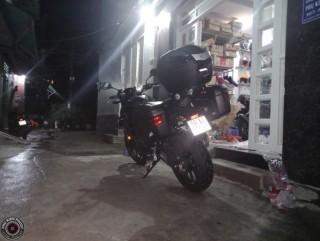 thùng  xe moto pkl cb500x, thùng cho moto cb500x , cb500x gắn thùng moto pkl