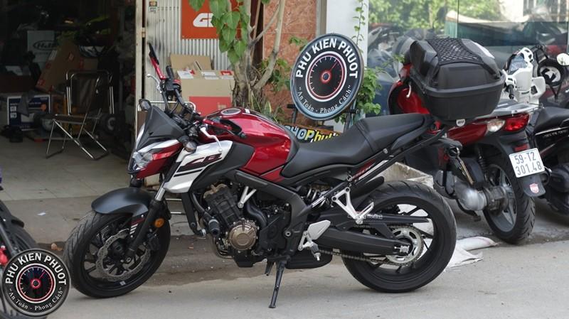 cb650f gắn thùng moto